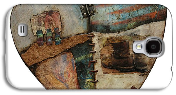 American Flag Mixed Media Galaxy S4 Cases - In Your Boots  Galaxy S4 Case by Laura  Lein-Svencner