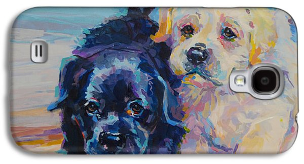 Puppies Galaxy S4 Cases - Incoming Galaxy S4 Case by Kimberly Santini