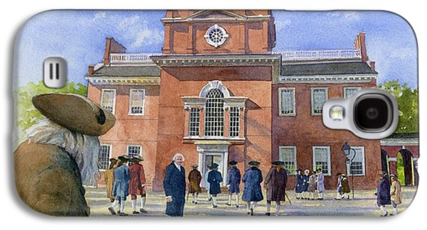 Benjamin Franklin Galaxy S4 Cases - Independence Hall and Delegates Galaxy S4 Case by Rob Wood