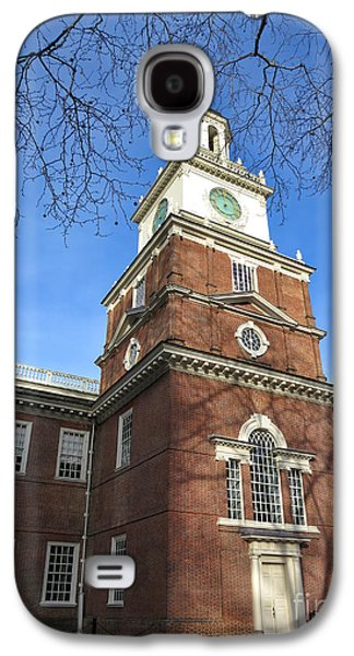 Phila Galaxy S4 Cases - Independence Hall Bell Tower Galaxy S4 Case by Olivier Le Queinec