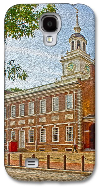 American Independance Photographs Galaxy S4 Cases - Independence Hall Philadelphia  Galaxy S4 Case by Tom Gari Gallery-Three-Photography