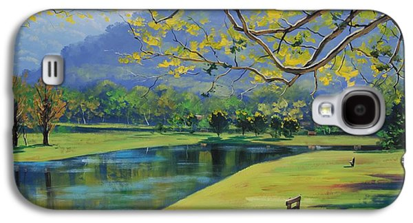 Beautiful Creek Paintings Galaxy S4 Cases - Inder the shade Galaxy S4 Case by Graham Gercken