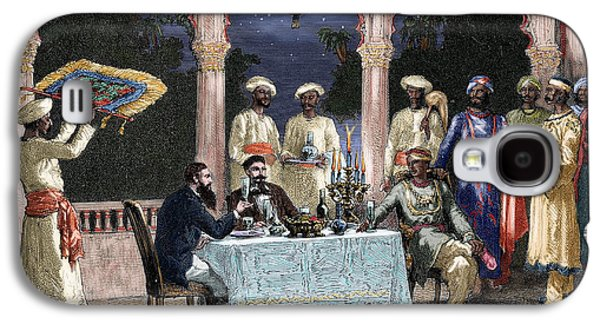 India  British Colonial Era  Banquet At The Palace Of Rais In Mynere Galaxy S4 Case by Hildibrand