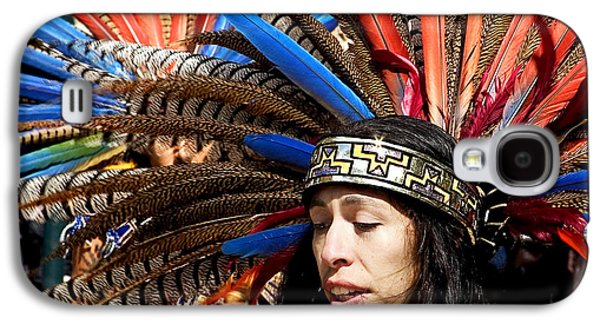 Native American Spirit Portrait Galaxy S4 Cases - Indian Galaxy S4 Case by Admir Gorcevic