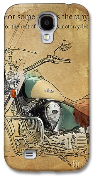 Indian Bike Portrait And Quote Galaxy S4 Case by Pablo Franchi