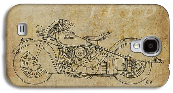 Indian Ink Galaxy S4 Cases - Indian Chief 1948 Galaxy S4 Case by Pablo Franchi