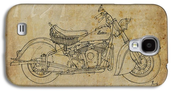 Indian Chief 1951 Galaxy S4 Case by Pablo Franchi