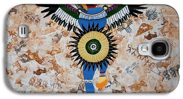 African-americans Tapestries - Textiles Galaxy S4 Cases - Indian Dance Galaxy S4 Case by Linda Egland