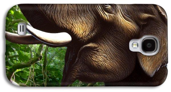 Tusk Galaxy S4 Cases - Indian Elephant 1 Galaxy S4 Case by Jerry LoFaro