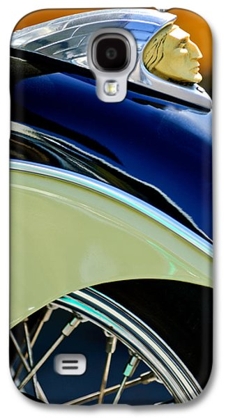 Recently Sold -  - Transportation Photographs Galaxy S4 Cases - Indian Motorcycle Fender Emblem Galaxy S4 Case by Jill Reger