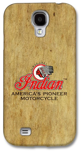 Shirt Galaxy S4 Cases - Indian Motorcycle Phone Case Galaxy S4 Case by Mark Rogan