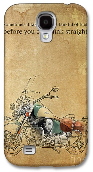 Indian Motorcycle Quote Galaxy S4 Case by Pablo Franchi