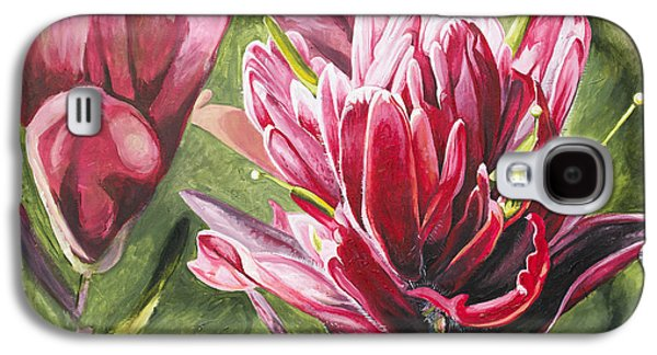 Wyoming Paintings Galaxy S4 Cases - Indian Paintbrush Galaxy S4 Case by Aaron Spong