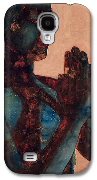 Buddhist Paintings Galaxy S4 Cases - Indian Prayer Galaxy S4 Case by Graham Dean