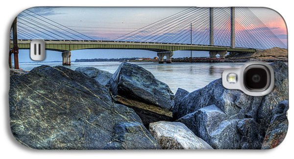 Beach Landscape Galaxy S4 Cases - Indian River Inlet Sunrise Galaxy S4 Case by David Dufresne