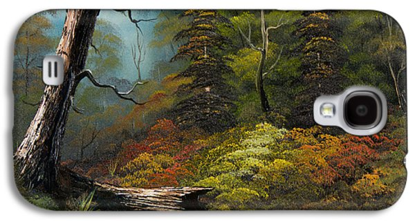 Sawtooth Mountain Paintings Galaxy S4 Cases - Secluded Forest Galaxy S4 Case by C Steele