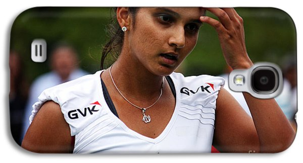 Volley Galaxy S4 Cases - Indian Tennis Player Sania Mirza Galaxy S4 Case by Nishanth Gopinathan
