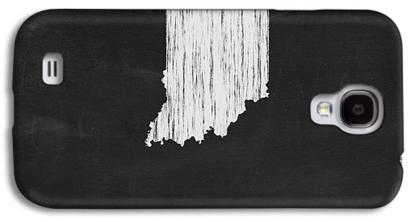 Indiana Art Galaxy S4 Cases - Indiana Chalk State Map Galaxy S4 Case by Finlay McNevin