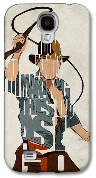 Minimalist Poster Galaxy S4 Cases - Indiana Jones - Harrison Ford Galaxy S4 Case by Ayse Deniz