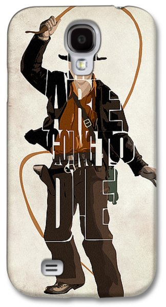 Indiana Art Galaxy S4 Cases - Indiana Jones VOL 2 - Harrison Ford Galaxy S4 Case by Ayse Deniz