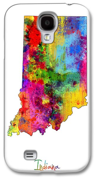 Indiana Map Galaxy S4 Case by Michael Tompsett