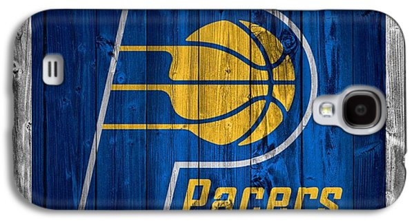 Nba Mixed Media Galaxy S4 Cases - Indiana Pacers Barn Door Galaxy S4 Case by Dan Sproul