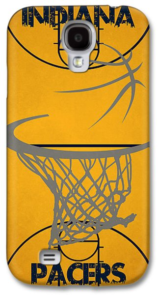 Pacers Galaxy S4 Cases - Indiana Pacers Court Galaxy S4 Case by Joe Hamilton