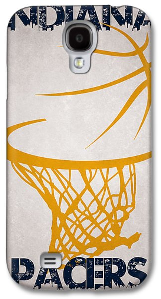 Pacers Galaxy S4 Cases - Indiana Pacers Hoop Galaxy S4 Case by Joe Hamilton