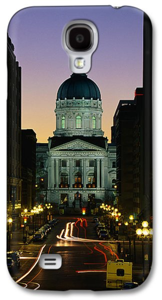 Indiana Scenes Galaxy S4 Cases - Indiana State Capitol Building Galaxy S4 Case by Panoramic Images