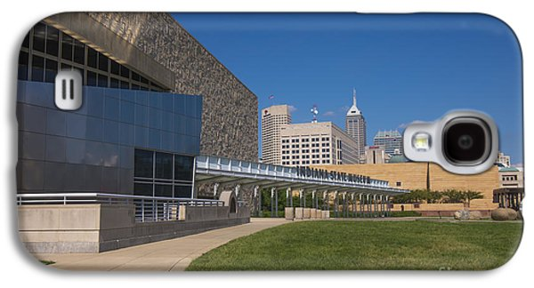 Indiana Scenes Galaxy S4 Cases - Indiana State Museum and Indianapolis Skyline Galaxy S4 Case by David Haskett
