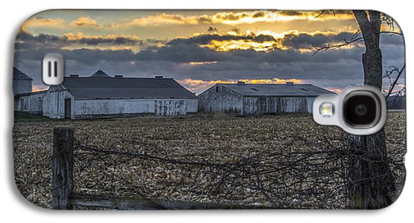 Indiana Landscapes Photographs Galaxy S4 Cases - Indiana Sunrise Galaxy S4 Case by John McGraw