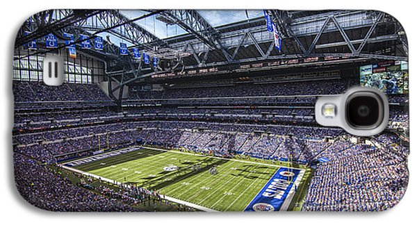 Pro Football Galaxy S4 Cases - Indianapolis Colts 3 Galaxy S4 Case by David Haskett