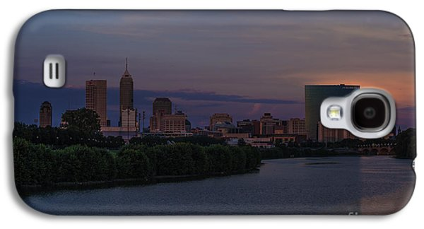 Indiana Landscapes Photographs Galaxy S4 Cases - Indianapolis Indiana Amazing Sunset Galaxy S4 Case by David Haskett