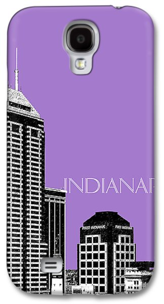 Indianapolis Indiana Skyline - Violet Galaxy S4 Case by DB Artist
