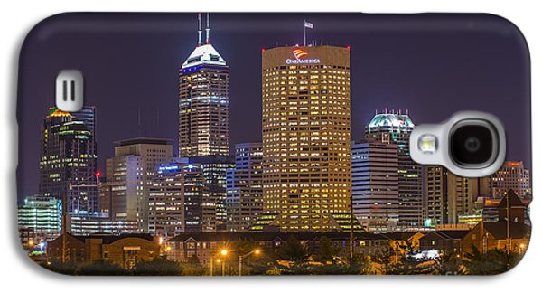 Aperture Photographs Galaxy S4 Cases - Indianapolis Night Skyline Echo Galaxy S4 Case by David Haskett