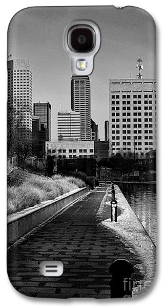 Indiana Winters Galaxy S4 Cases - Indianapolis Skyline 21 Galaxy S4 Case by David Haskett