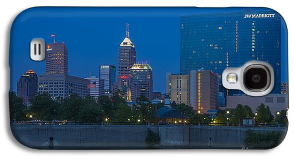 Indiana Scenes Galaxy S4 Cases - Indianapolis Skyline Dusk May 2013 Galaxy S4 Case by David Haskett