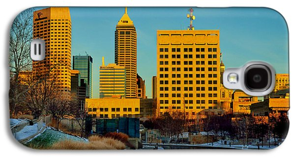 Indiana Winters Galaxy S4 Cases - Indianapolis Skyline Dynamic Galaxy S4 Case by David Haskett