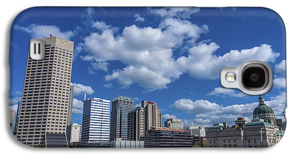 Indiana Scenes Galaxy S4 Cases - Indianapolis Skyline Low Galaxy S4 Case by David Haskett