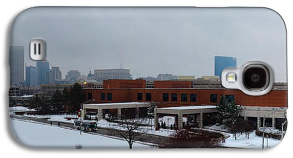Indiana Landscapes Photographs Galaxy S4 Cases - Indianapolis Snow Day Pano Galaxy S4 Case by David Haskett