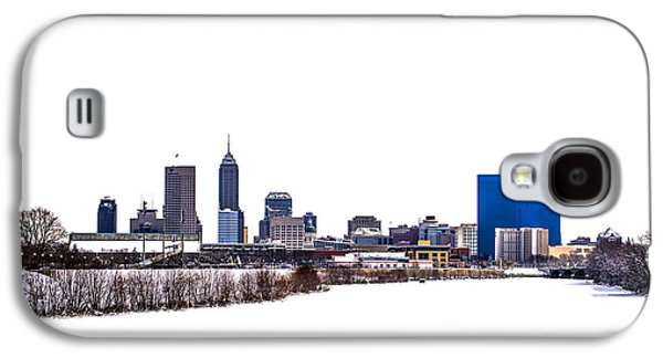 Indiana Winters Galaxy S4 Cases - Indianapolis White Out Galaxy S4 Case by David Haskett