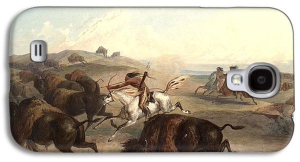 Bison Digital Galaxy S4 Cases - Indians Hunting The Bison Galaxy S4 Case by Karl Bodmer