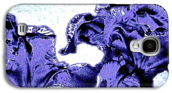 Abstract Digital Galaxy S4 Cases - Indigo Irises Galaxy S4 Case by Will Borden