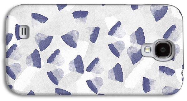 Dots Digital Art Galaxy S4 Cases - Indigo Petals Galaxy S4 Case by Aged Pixel