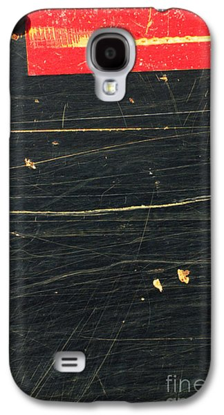 Abstracted Galaxy S4 Cases - Indsutrial Abstract in Black and Red Galaxy S4 Case by Anahi DeCanio - ArtyZen Studios
