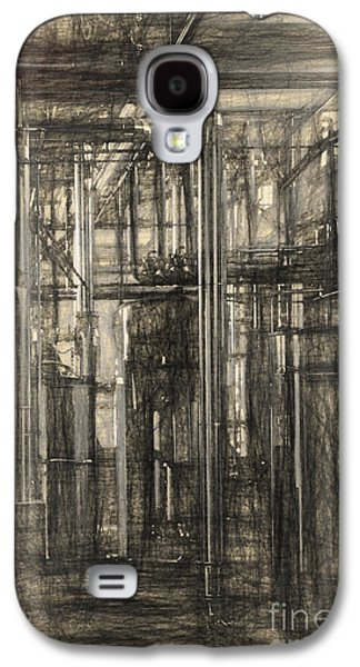 Industrial Drawings Galaxy S4 Cases - Industrial abstract Galaxy S4 Case by Carsten Reisinger