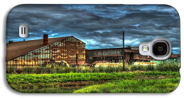 Dismay Galaxy S4 Cases - Industrial Complex with Angry Sky Galaxy S4 Case by Douglas Barnett