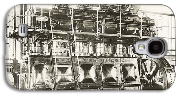 Machinery Galaxy S4 Cases - Industrial Diesel Engine, 20th Century Galaxy S4 Case by Miriam And Ira D. Wallach Division Of Art, Prints And Photographs