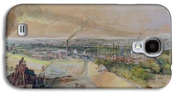 Industry Galaxy S4 Cases - Industrial Landscape in the Blanzy Coal Field Galaxy S4 Case by Ignace Francois Bonhomme