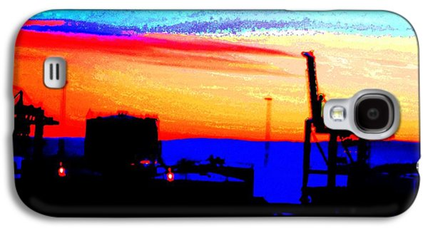 Dr. J Galaxy S4 Cases - Industrial sunset Galaxy S4 Case by Hilde Widerberg